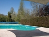 Pool area with sunshade areas